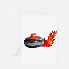 Flaming Rock Greeting Card