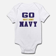 Go Navy, Beat Army! Infant Bodysuit