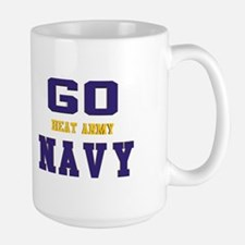 Go Navy, Beat Army! Large Mug Mugs