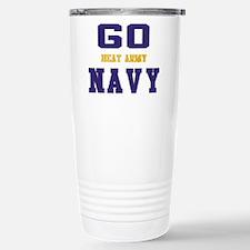 Go Navy, Beat Army! Stainless Steel Travel Mug