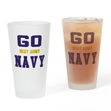 Go Navy, Beat Army! Drinking Glass