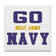 Go Navy, Beat Army! Tile Coaster