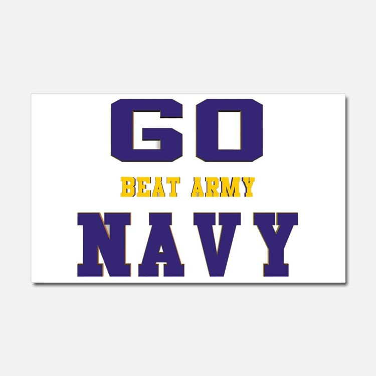 Go Navy, Beat Army! Car Magnet 20 x 12