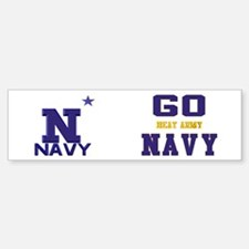 Go Navy, Beat Army! Sticker (Bumper)
