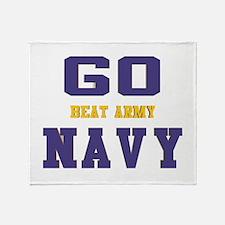 Go Navy, Beat Army! Throw Blanket