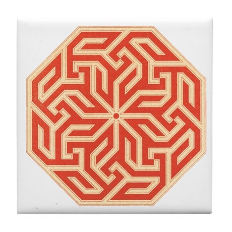 Traditional Art Tile Coaster