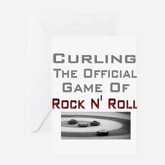 Curling-The Official Game Of Greeting Card