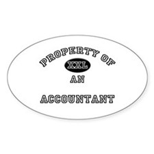Property of an Accountant Oval Decal