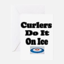 Curlers Do It On Ice Greeting Card