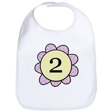 two purple/yellow flower bib