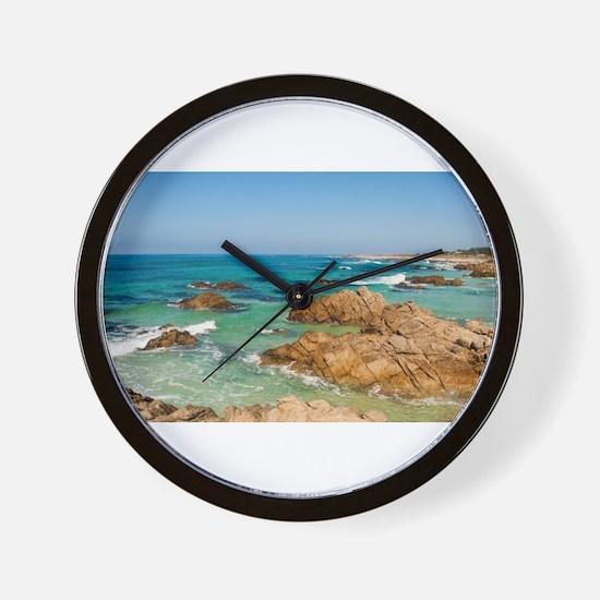 Pacific Coast, Carmel, California Wall Clock