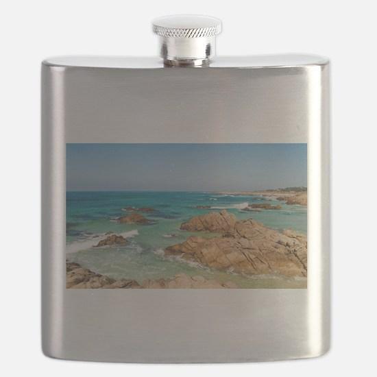 Pacific Coast, Carmel, California Flask