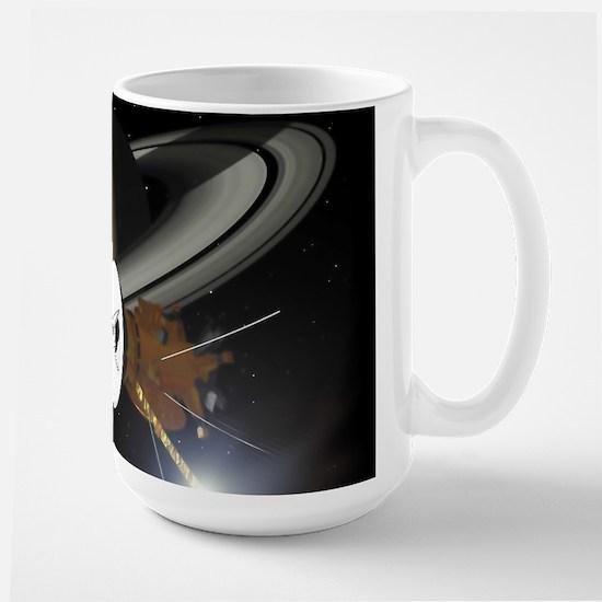 Saturn and the Cassini Probe Mugs