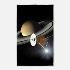 Saturn and the Cassini Probe Area Rug