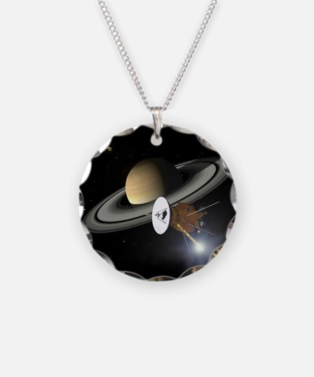 Saturn and the Cassini Probe Necklace