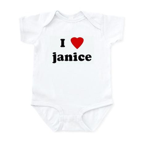 I Love janice Infant Bodysuit