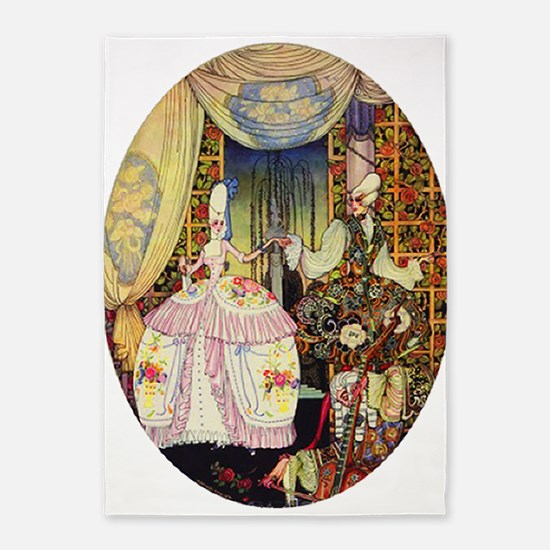 Kay Nielsen - French Lord and Lady 5'x7'Area Rug