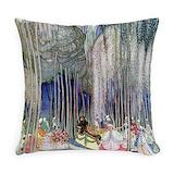 Art deco everyday fairy Burlap Pillows