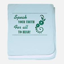 SPEAK YOUR TRUTH baby blanket