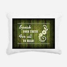 SPEAK YOUR TRUTH Rectangular Canvas Pillow