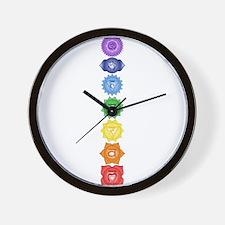 Chakra Symbols Wall Clock