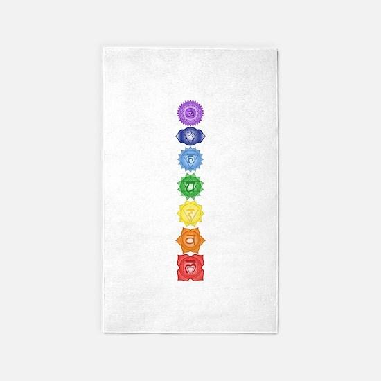 Chakra Symbols Area Rug