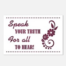 SPEAK YOUR TRUTH Postcards (Package of 8)