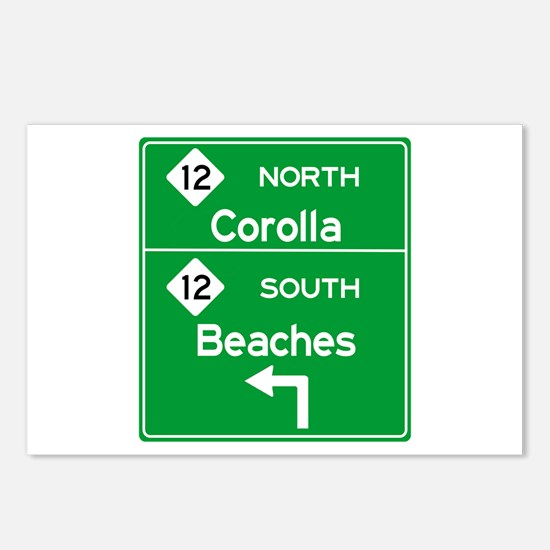 Outer Banks Route 12 Sign Postcards (Package of 8)