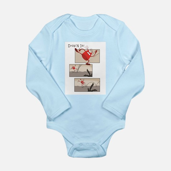Dropn In With Style Long Sleeve Infant Body Suit