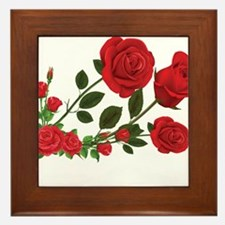Roses Framed Tile