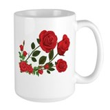 Rose flower Large Mugs (15 oz)
