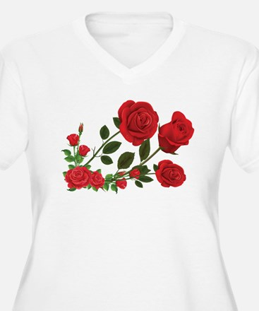 Roses Plus Size T-Shirt