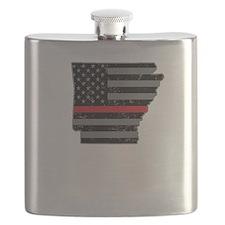 Arkansas Firefighter Thin Red Line Flask