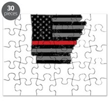 Arkansas Firefighter Thin Red Line Puzzle