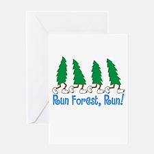 Run Forest Run Greeting Cards