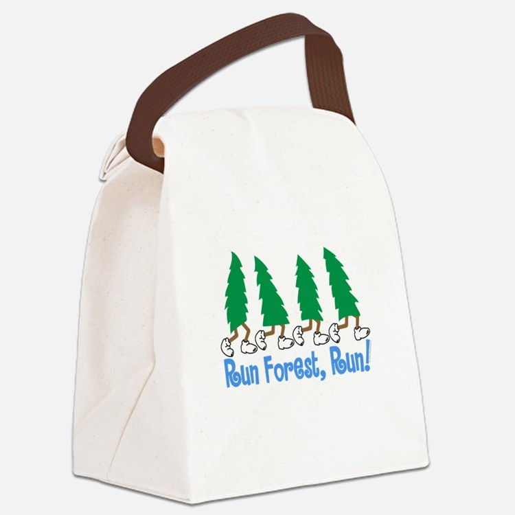 Run Forest Run Canvas Lunch Bag