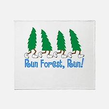 Run Forest Run Throw Blanket