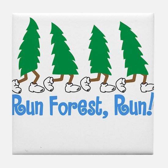 Run Forest Run Tile Coaster
