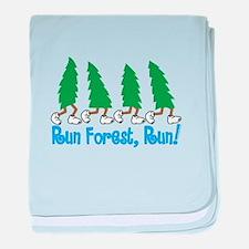 Run Forest Run baby blanket