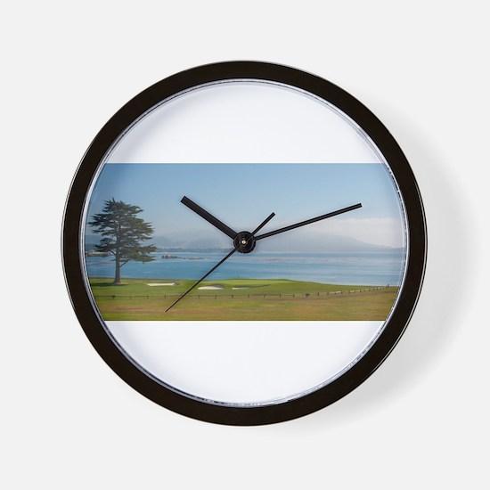 18th Green Pebble Beach Wall Clock