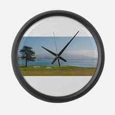 18th Green Pebble Beach Large Wall Clock