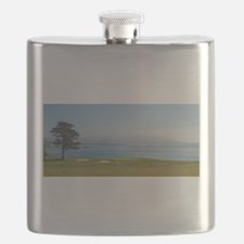 18th Green Pebble Beach Flask