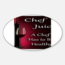 Funny Singing chefs on a bike drinking red wine Decal