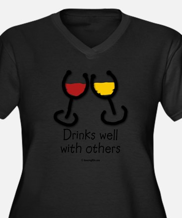 Cute Food and drink Women's Plus Size V-Neck Dark T-Shirt