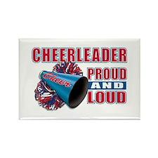 Cheerleader Proud & Loud Rectangle Magnet
