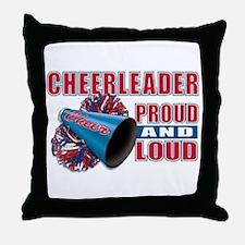 Cheerleader Proud & Loud Throw Pillow