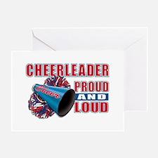 Cheerleader Proud & Loud Greeting Card