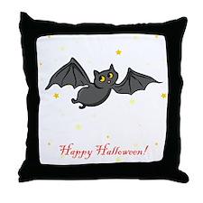 Friendly Bat Throw Pillow