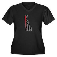 Delaware Firefighter Thin Red Li Plus Size T-Shirt