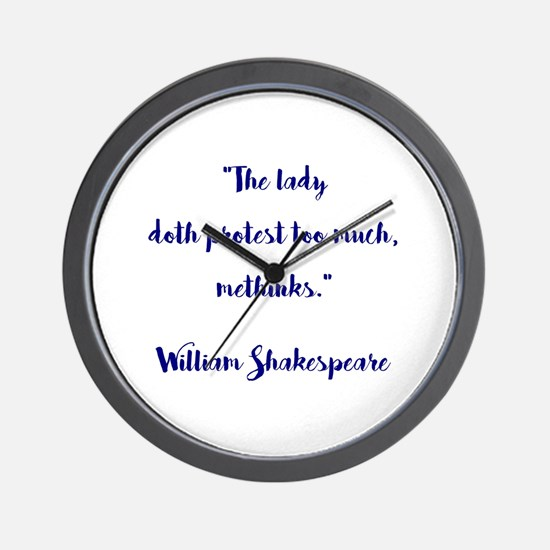THE LADY DOTH... Wall Clock